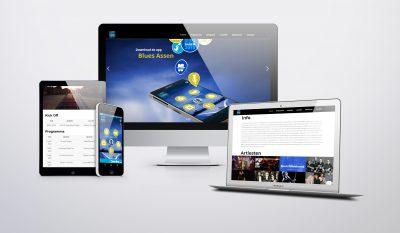 Web- en appdesign Bluesdagen Assen