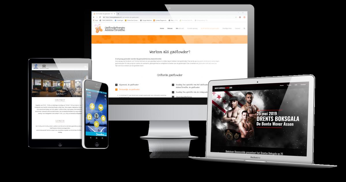 Voorbeelden web- en appdesign