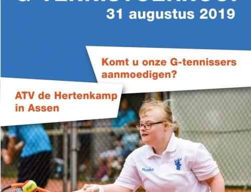 Noordelijk G-tennis toernooi flyer en poster