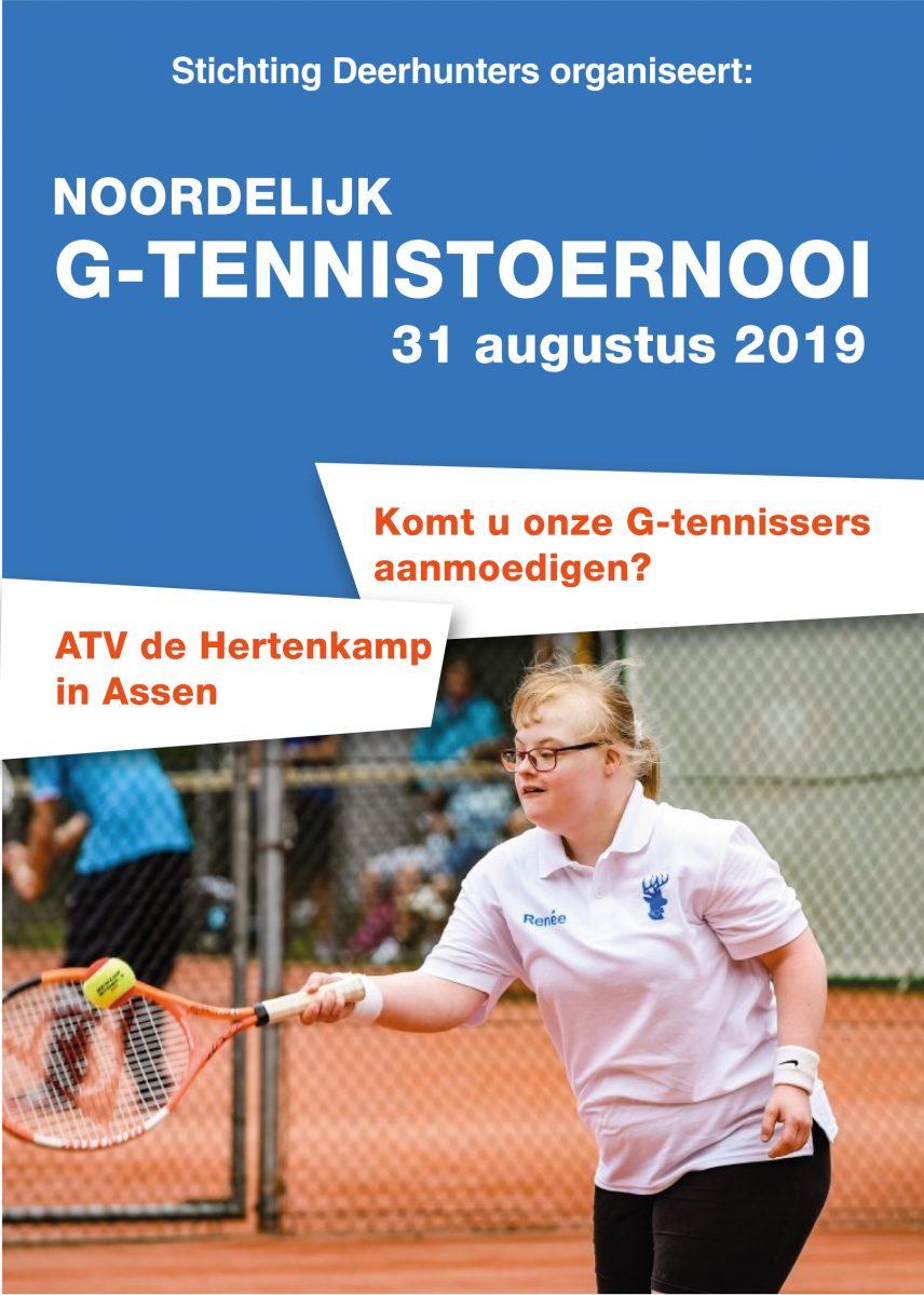 Flyer G-tennis voorkant